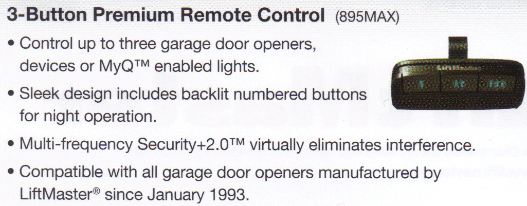 8550 Liftmaster Garage Door Opener Remote Control