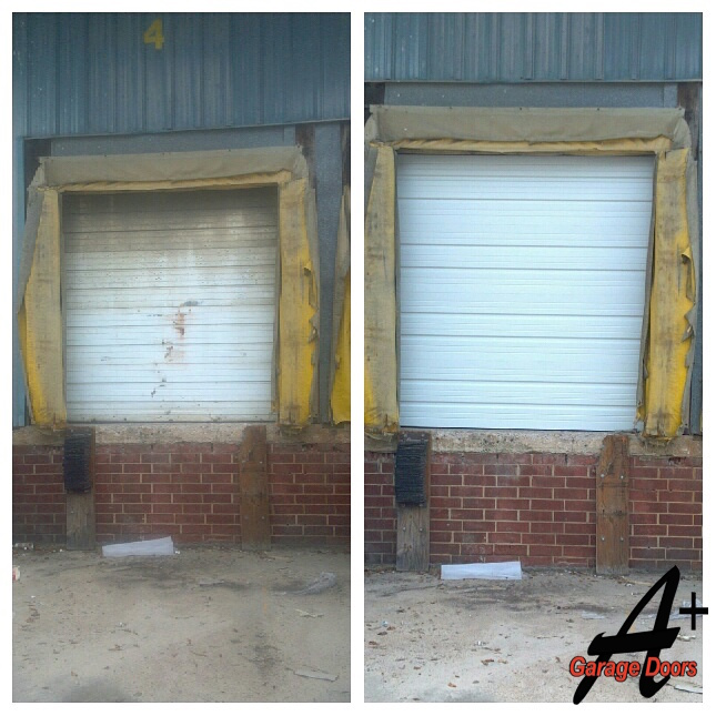 Before After Commercial Garage Door Loading Bay Door
