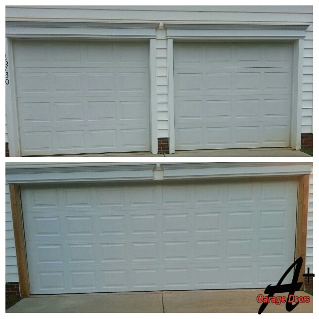 Before After Residential Garage Door Framing