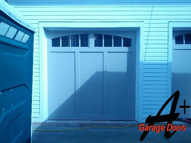 Blue Carriage House Garage Door Charlotte