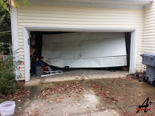We Fix Garage Doors That Are Hit By Cars