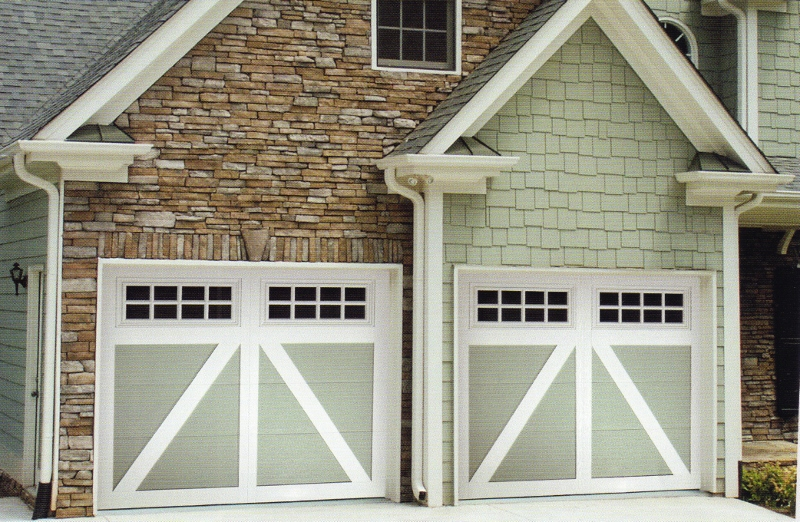 Carriage Creek Style Painted Garage Door