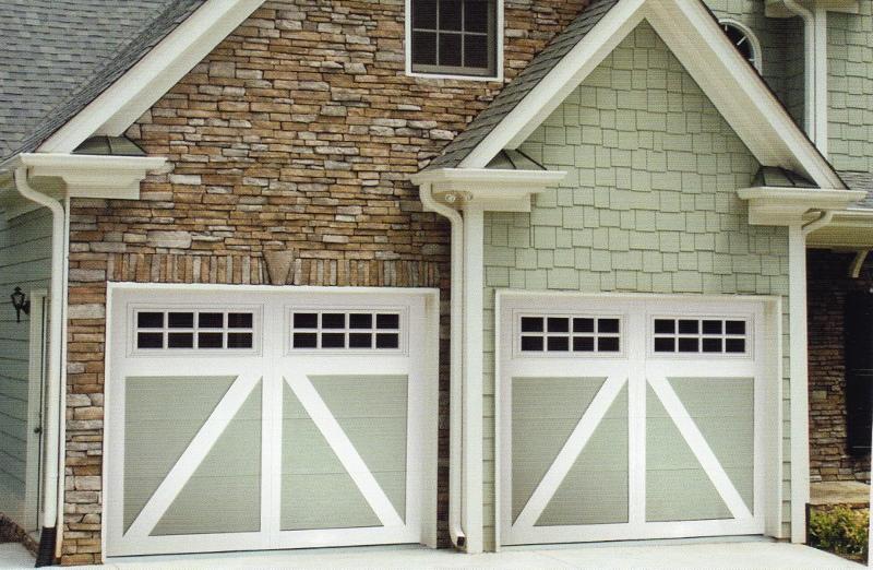 Carriage Creek Style Painted Garage Door