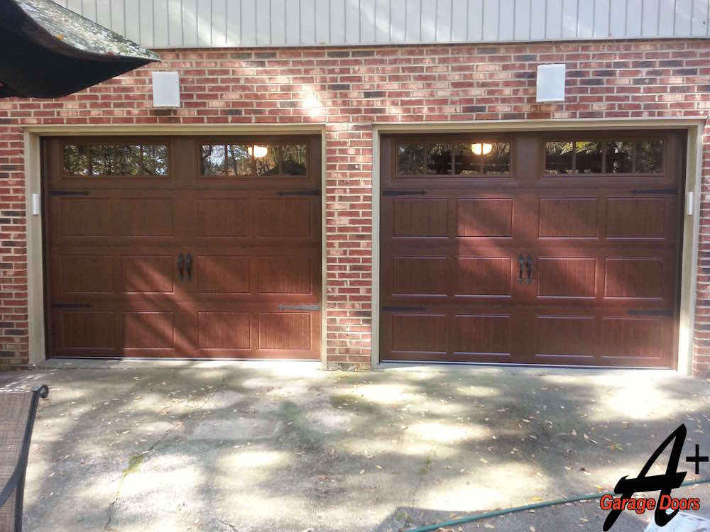 Estate One Car Garage Doors Front View