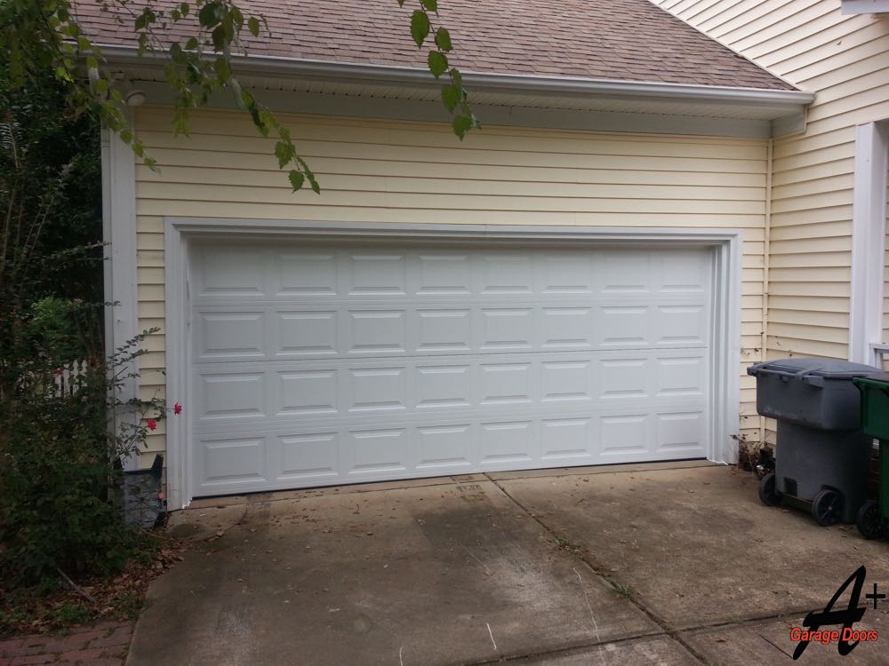 Residential Garage Door Repair Hit By Car Replaced Charlotte