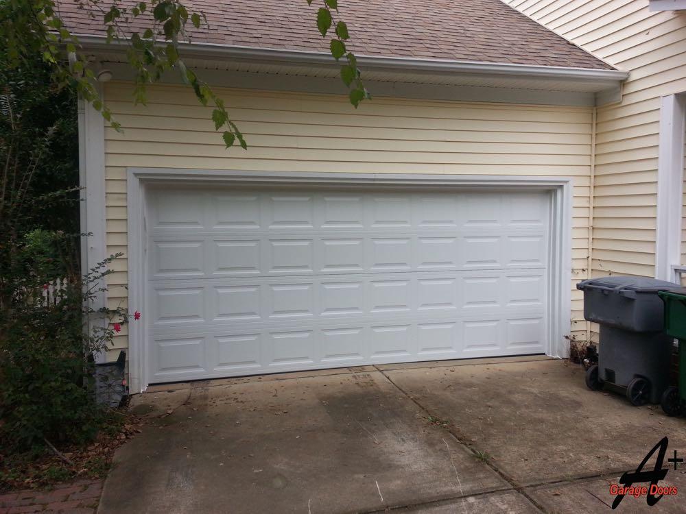 Residential Garage Door Repair Hit By Car Replaced Charlotte