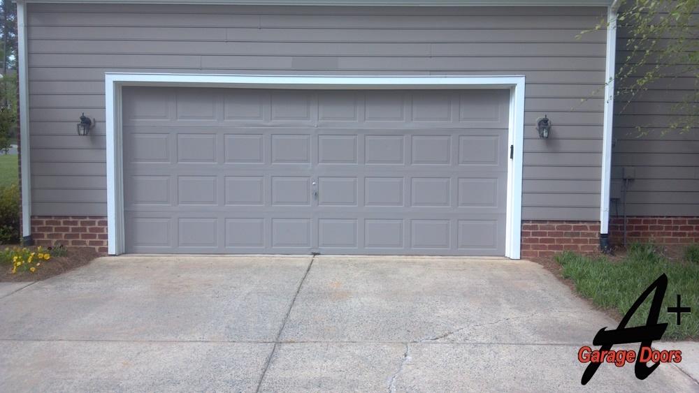 Gray Residential Garage door Installation Charlotte