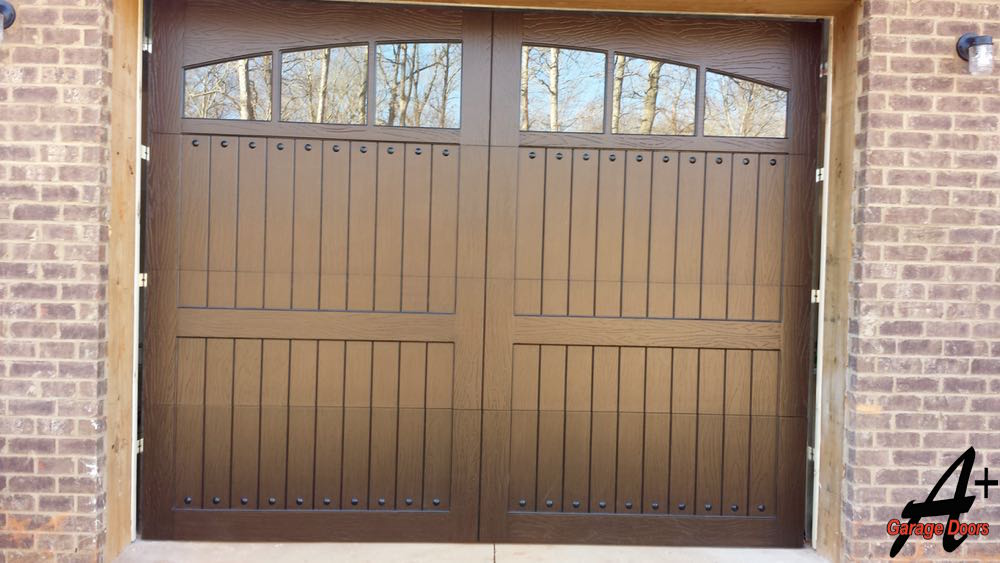 Custom Wood Residential Garage Door Installation