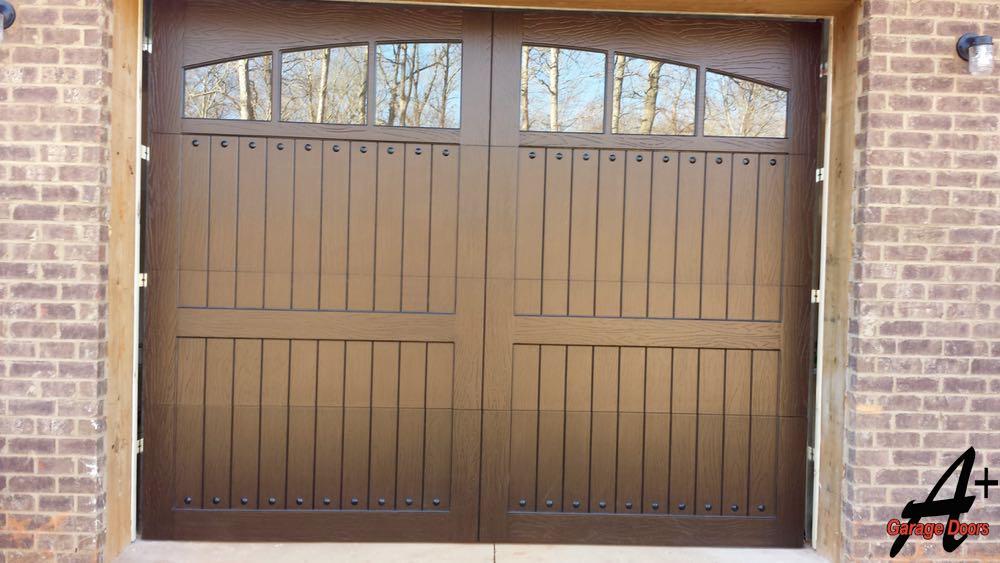 Custom Wood Residential Garage Door Installation