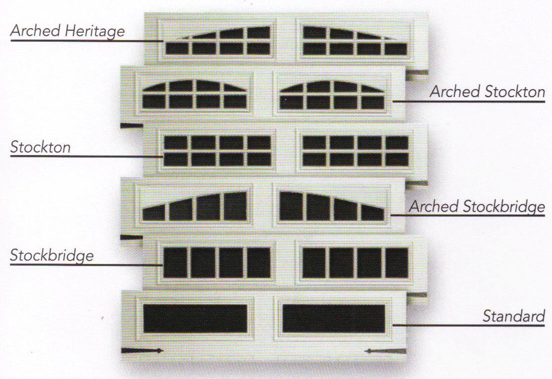 Carriage House Garage Door Window Inserts