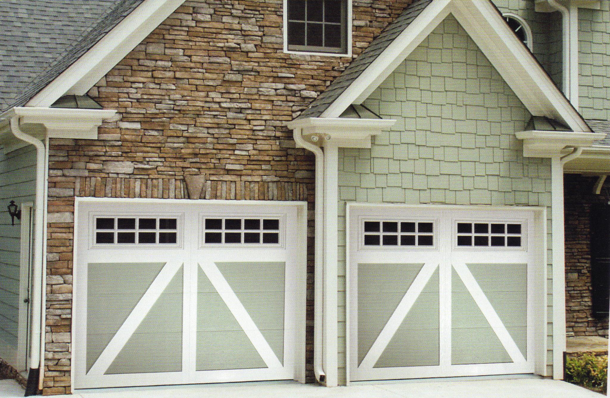 Carriage creek style 5 painted garage door a plus garage for Style your garage door