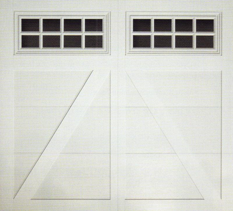 Carriage Creek Style White Garage Door