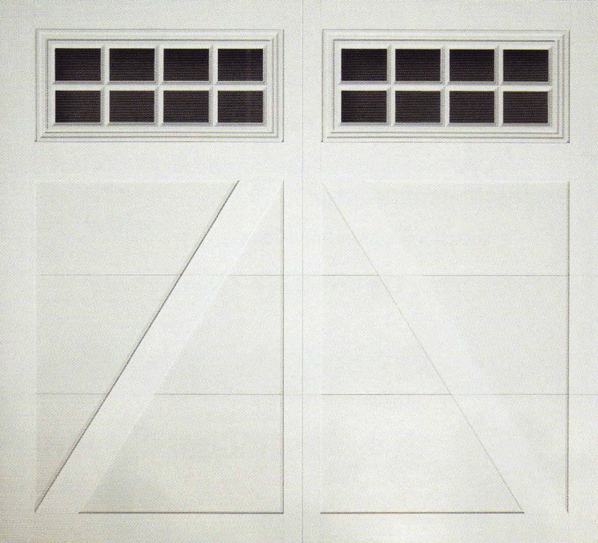 Carriage Creek Style 5 White Garage Door A Plus Garage Doors