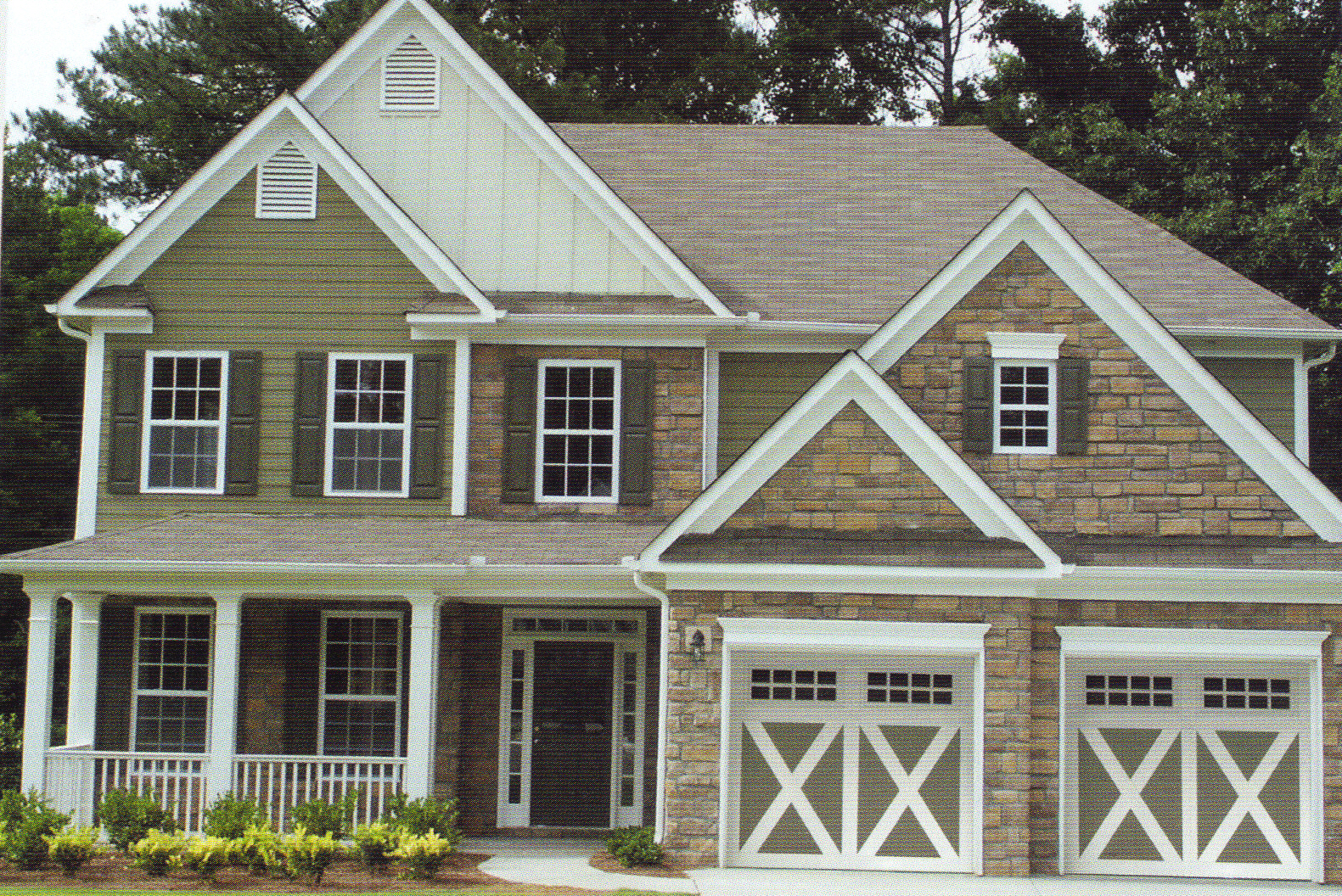 Carriage garage doors - Carriage Creek Style 6 Sandstone Garage Door