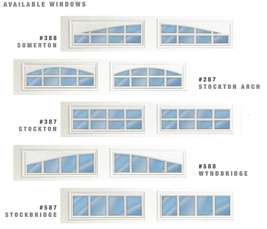 Residential Garage Door Windows