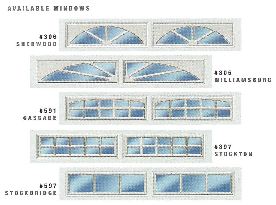 3690 Residential Garage Door Window Options