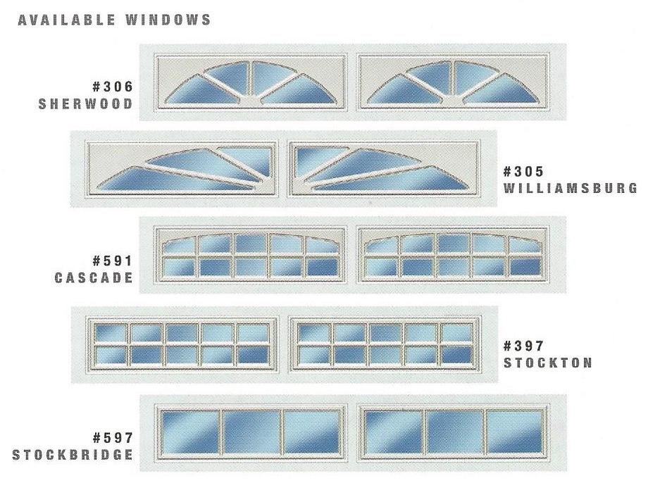 3690 Residential Garage Door Window Options