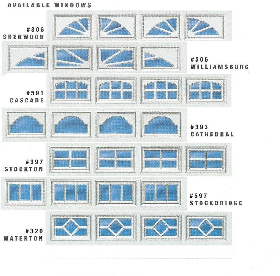 510/511 Residential Garage Door Windows