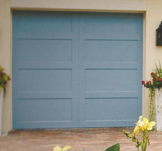 Custom Design Blue Garage Door