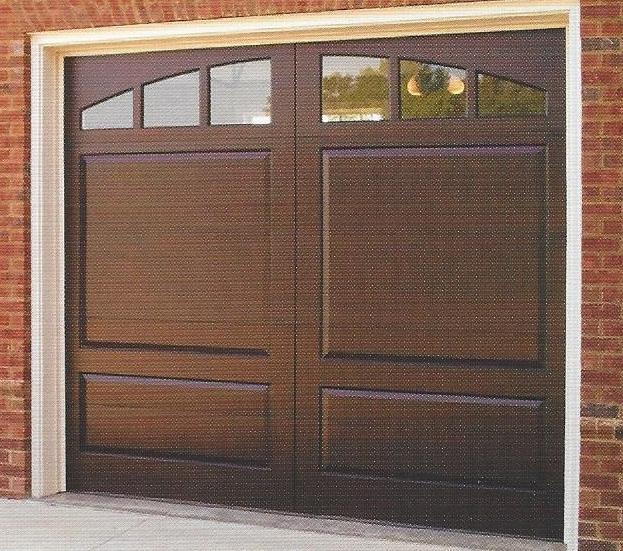 Custom Raised Panel Mahogany Option H Window