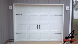 Huntersville NC One Car White Garage Door