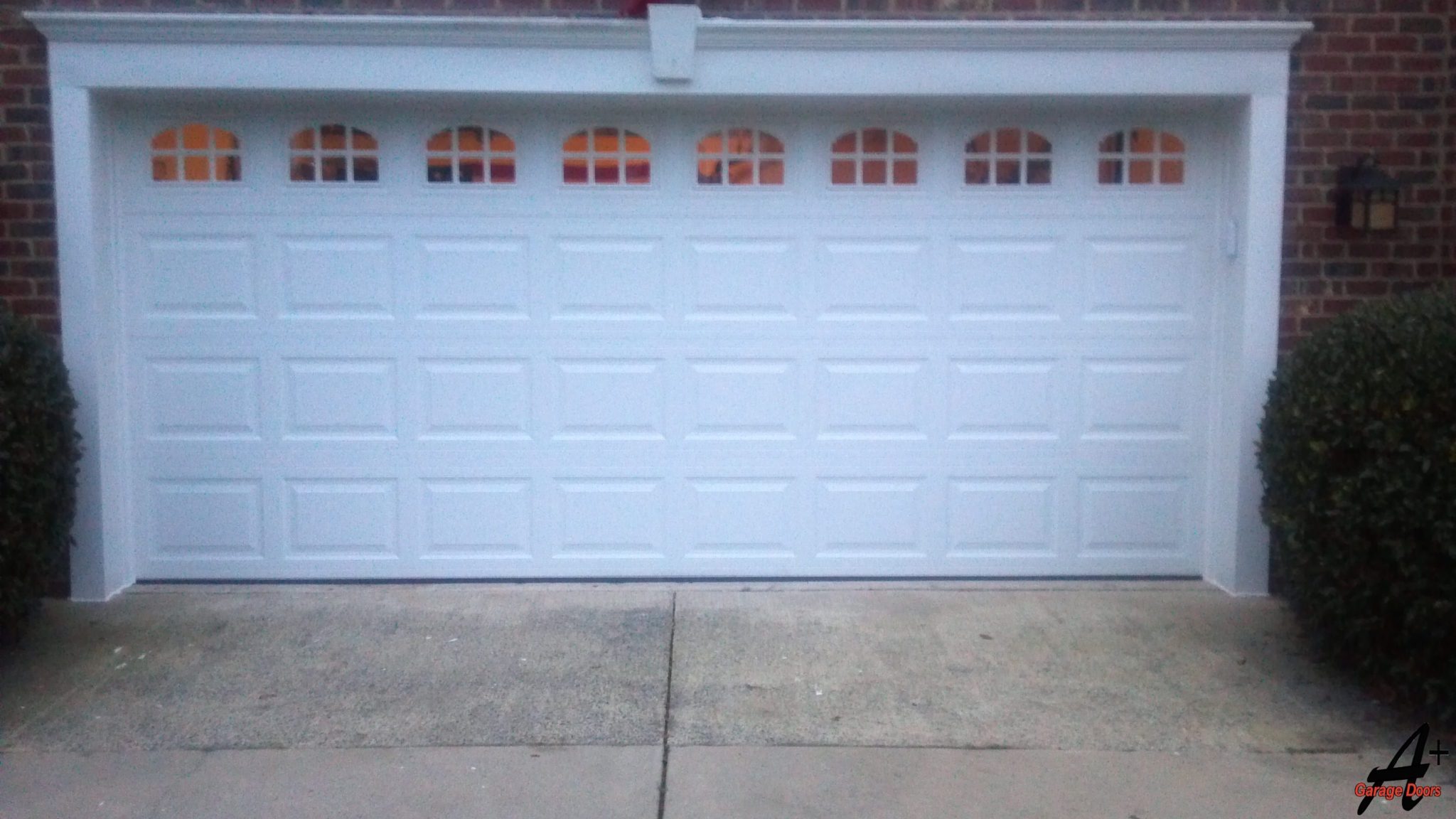 Matthews Two Car Garage With Glass Windows & Matthews NC Garage Doors Repairs Installations Matthews NC Pezcame.Com
