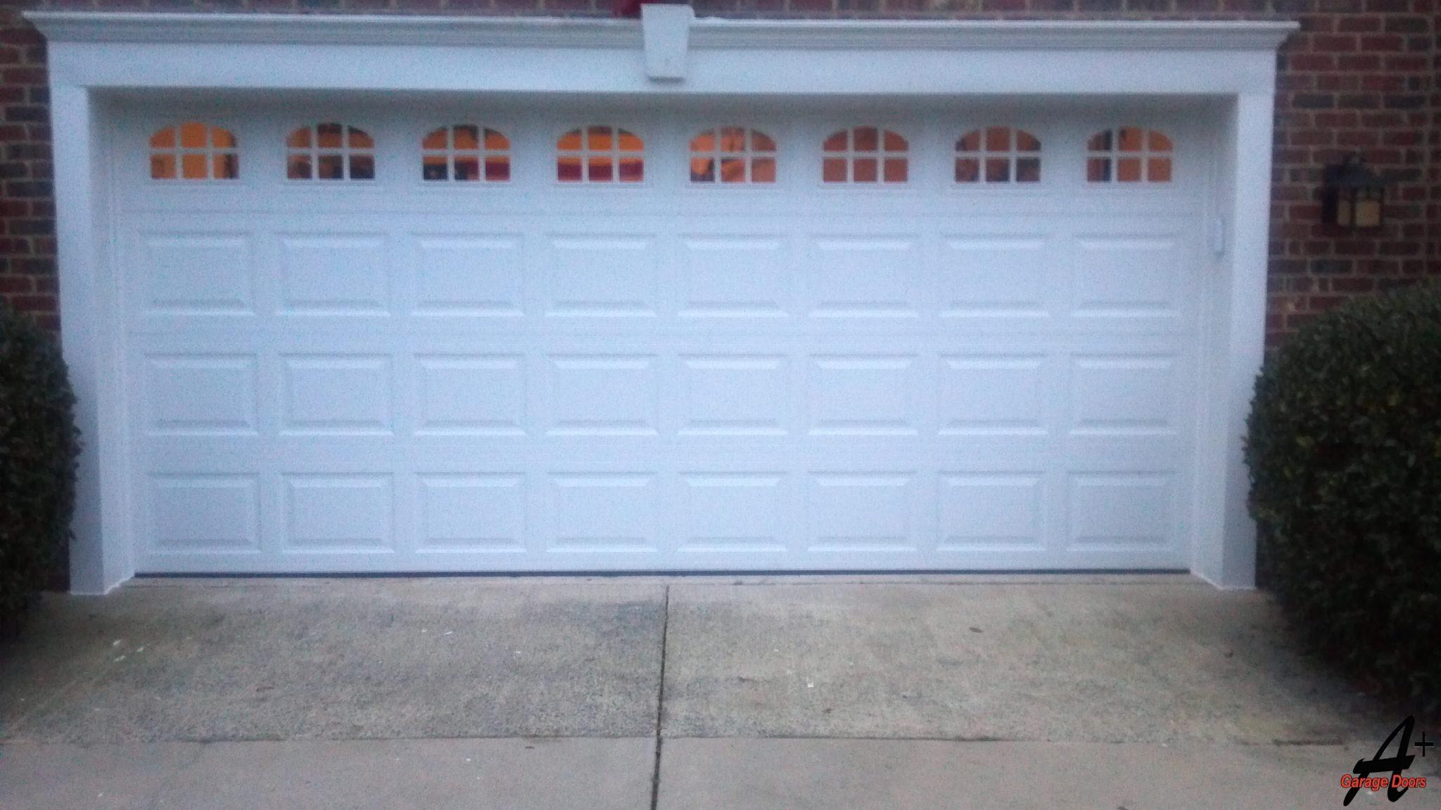 Matthews Two Car Garage With Glass Windows