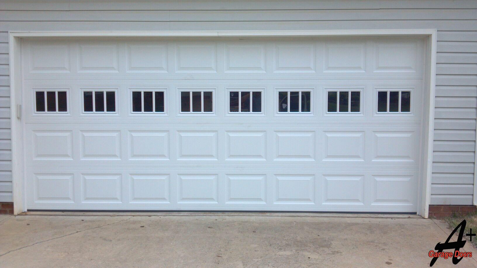 Mooresville NC Double Garage Door with Glass Stockenbridge