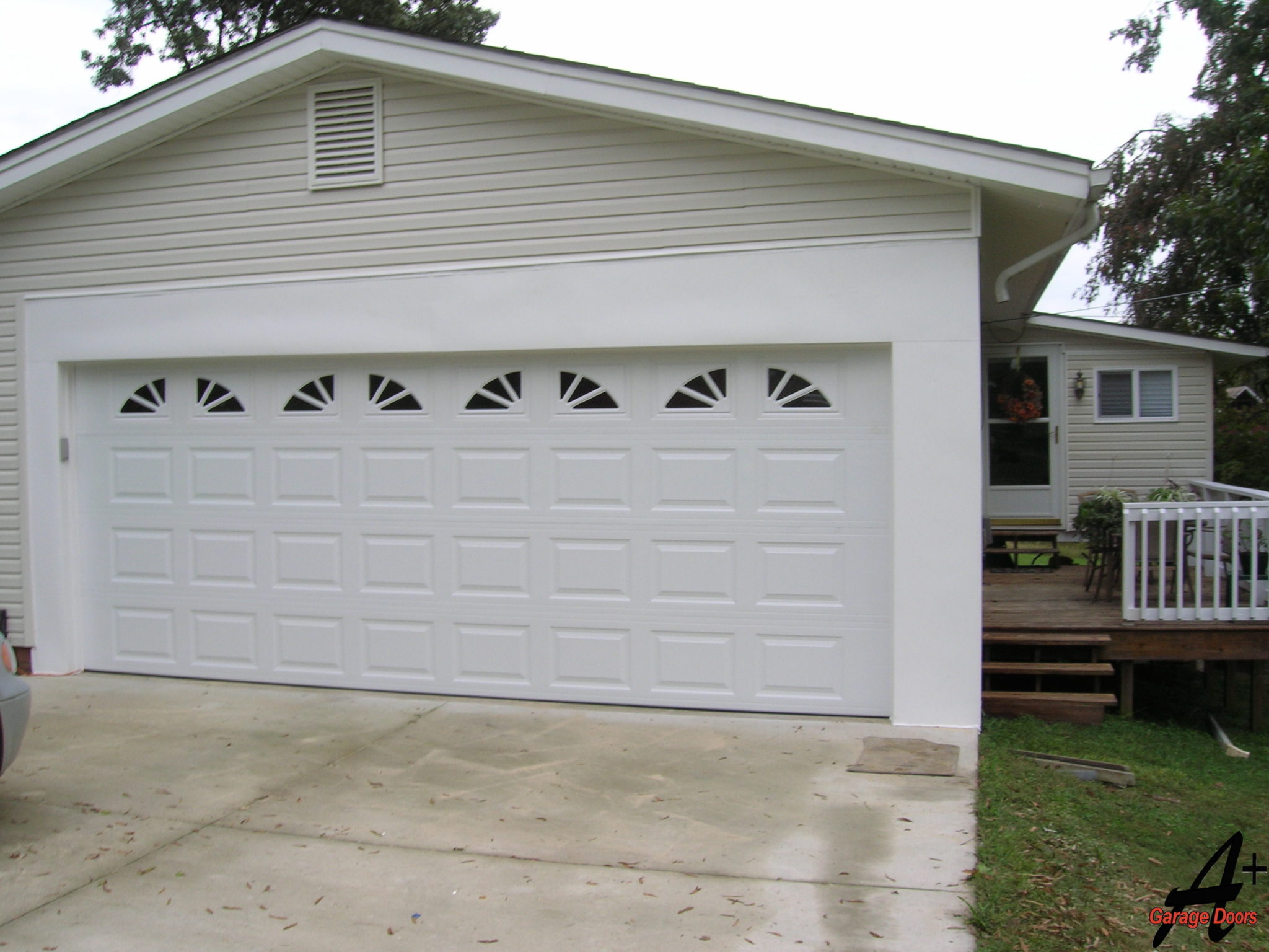 Unionville NC Two Car Garage Door with Windows