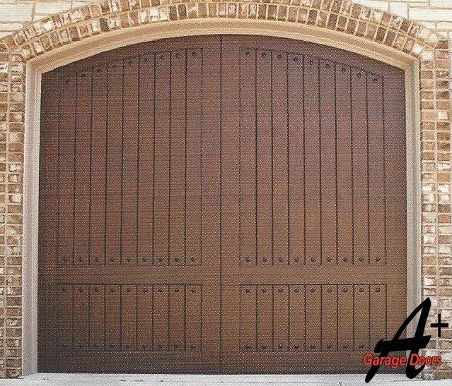 Wesley Chapel NC Custom Wood Garage Door
