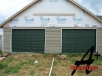 Fort Mill SC Green Garage Doors, New Construction