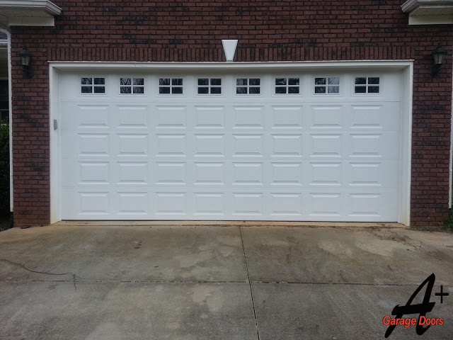 Harrisburg NC Two Car White Garage Door