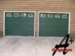 Monroe NC Garage Doors with White Windows