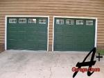 Monroe NC Garage Doors with White Windows