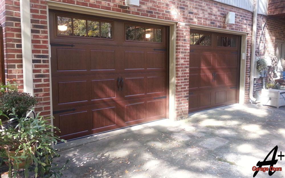 Two one Car Garage Custom Wood Installation