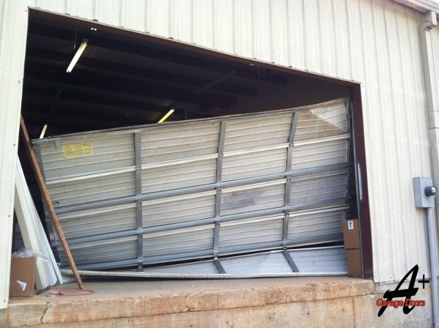 Broken Commercial Garage Door