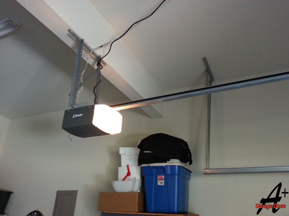 Residential Garage Door Opener After Replaced