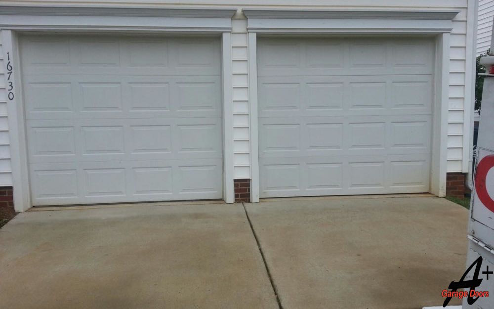 Garage Door Two Doors Single Garage