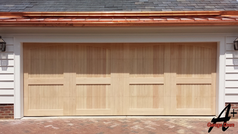 Residential Custom Wood Garage Door Installation After
