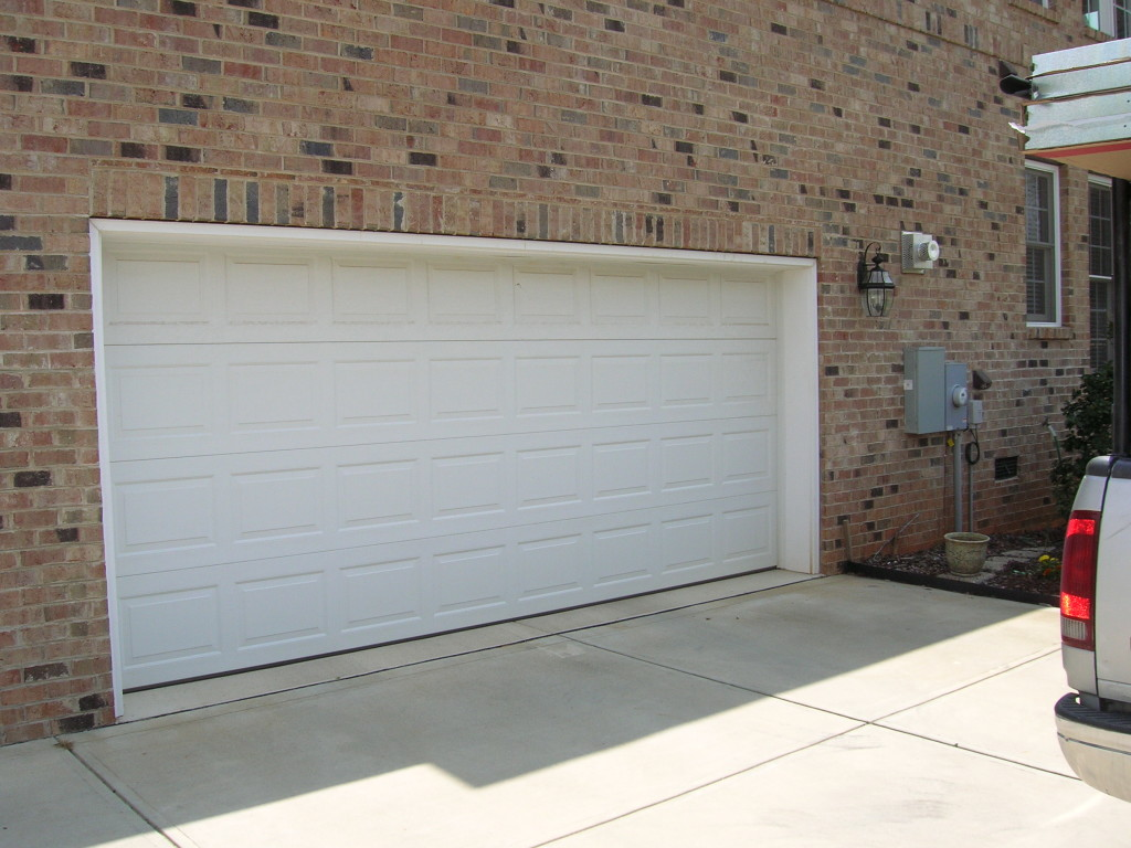 2 car white garage door a plus doors 2 car garage doors