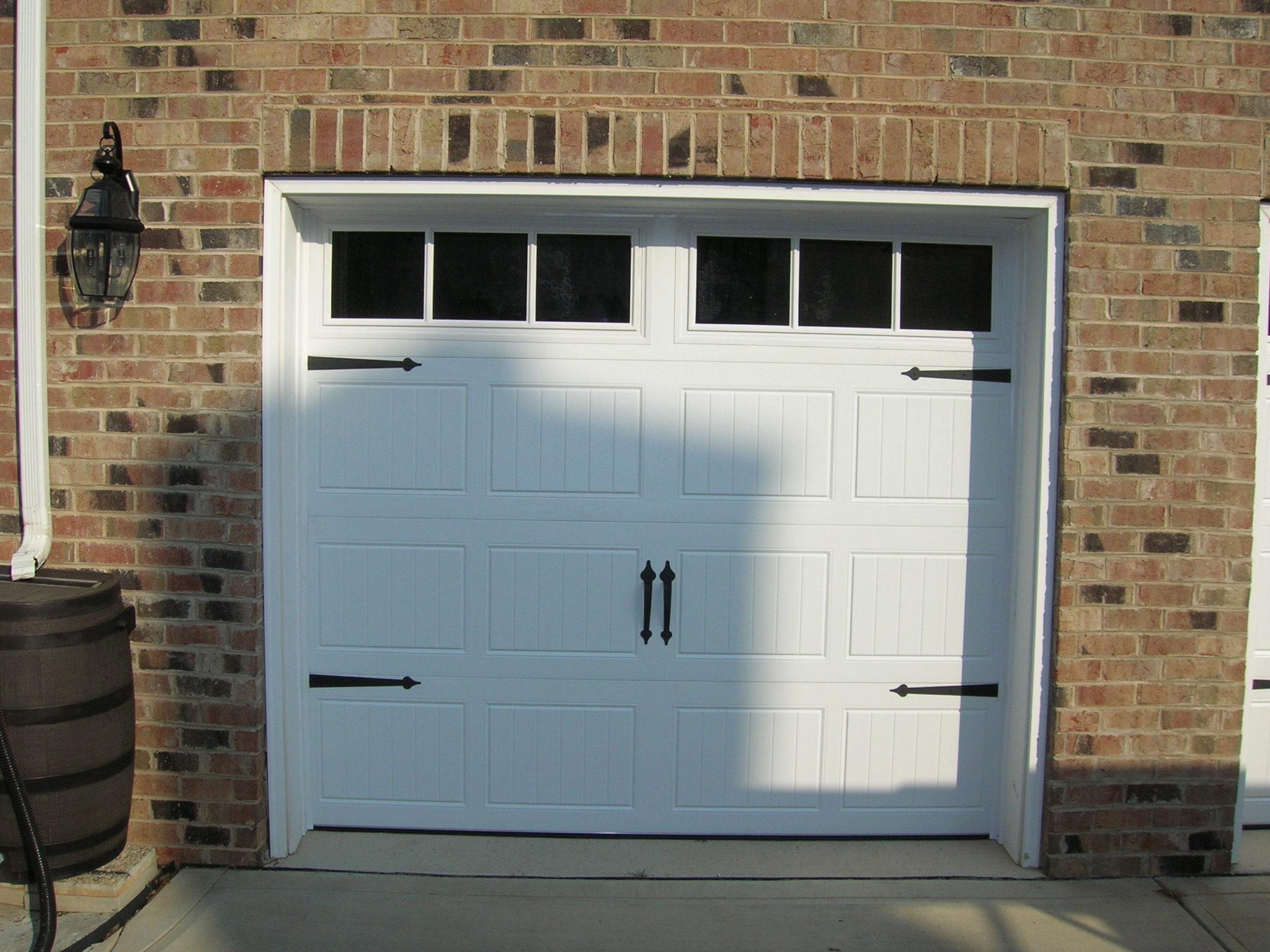Single White Carriage House Garage Door