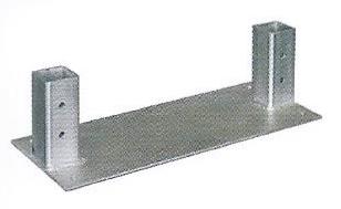 Driveway Gate Concrete Pad Mount