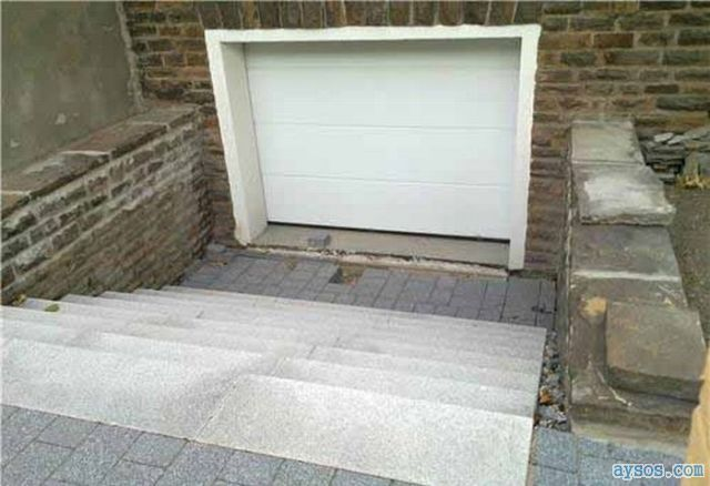 Garage door stairs