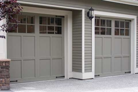 Residential Garage Door Grey Gray Color Simple