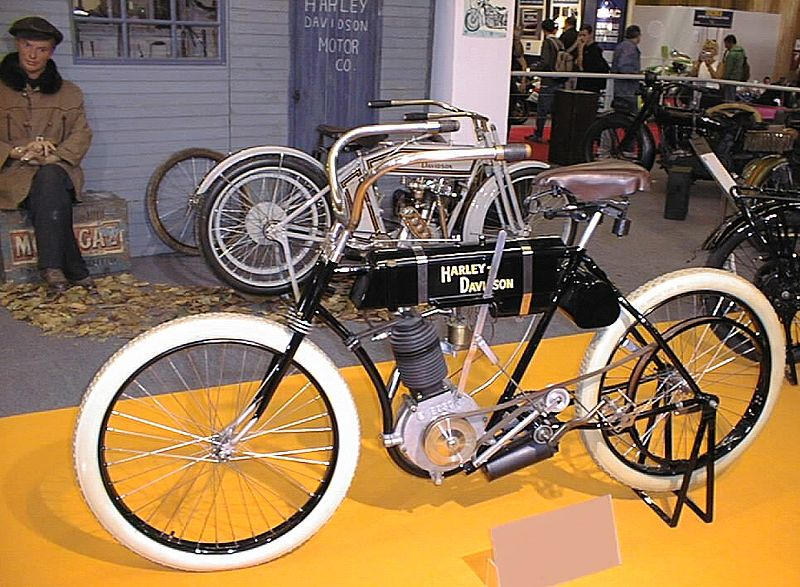 Harley Motorcycle Old Original