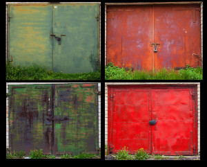 Color Garage Doors Metal residential Prusu Street Lithuania