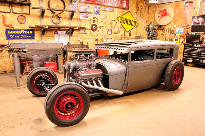 gas axe garage shop ford model a with Chevrolet rat