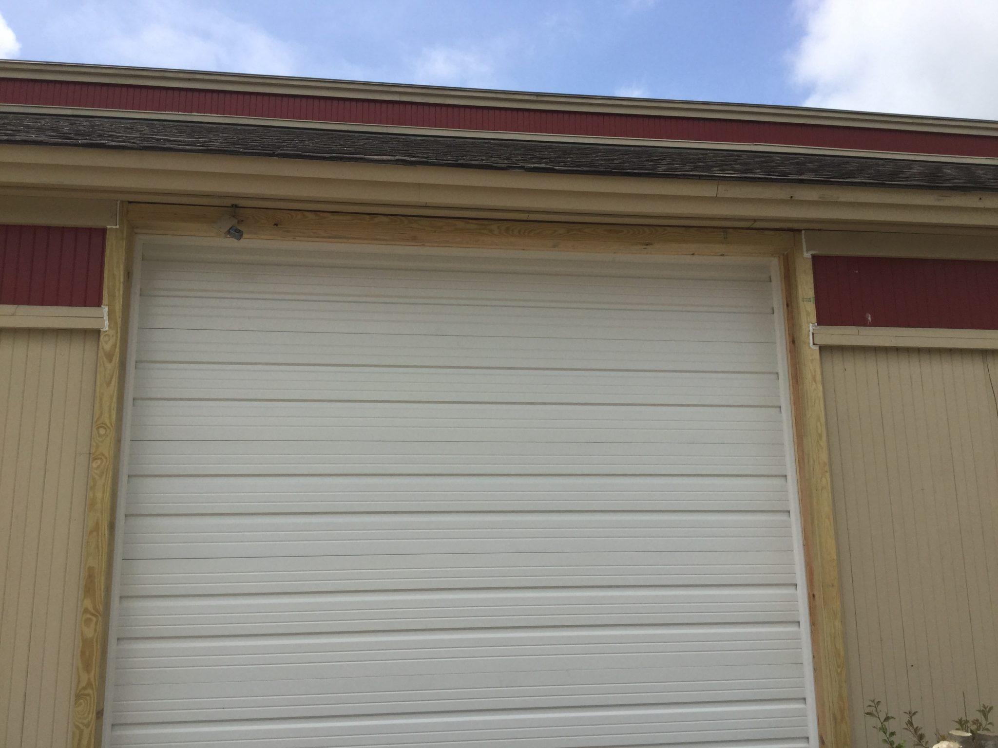 Outside garage door installation after for Charlotte garage door repair