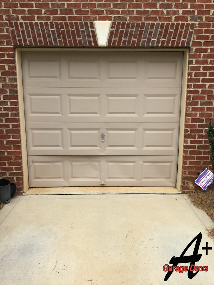 charlotte garage door repair of door hit by car residential. Black Bedroom Furniture Sets. Home Design Ideas