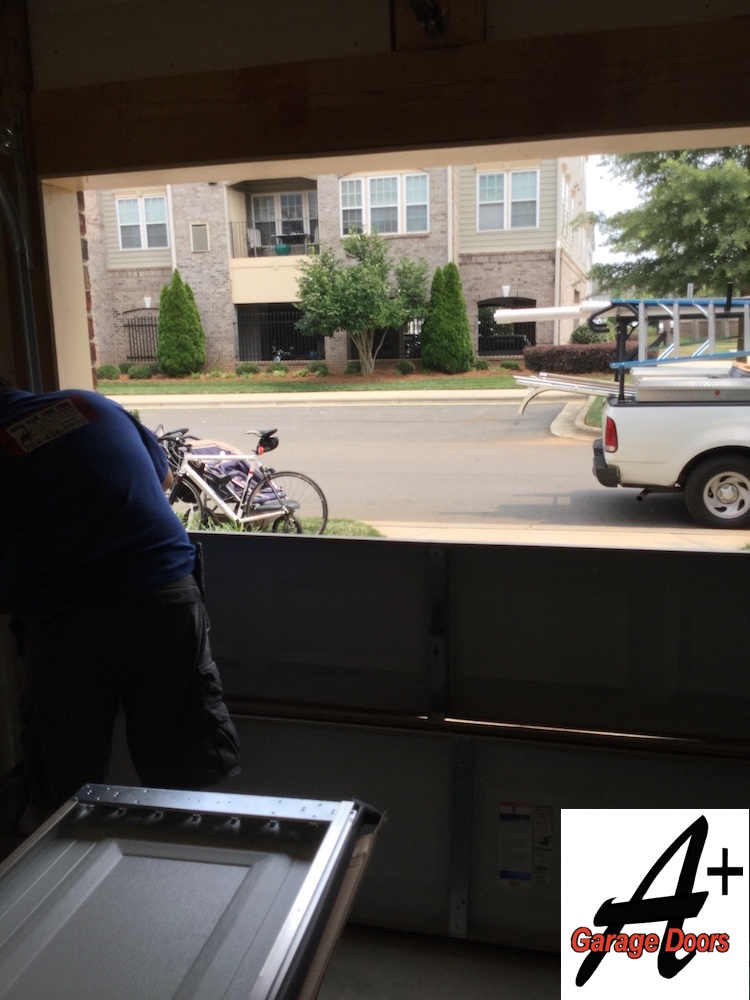 Charlotte Garage Door Repair Of Door Hit By Car Residential